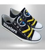 Steelers shoes women sneakers men fashion steelers tennis shoes custom f... - $55.00+