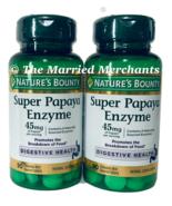 (2) Nature's Bounty Super Papaya Enzyme 45 mg 90 chewable tabs ea 11/2022 FRESH! - $15.99