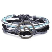 3pcs\set Multilayer Wave Bracelets Set For Woman Wax Line Rope Surfer Br... - $20.20