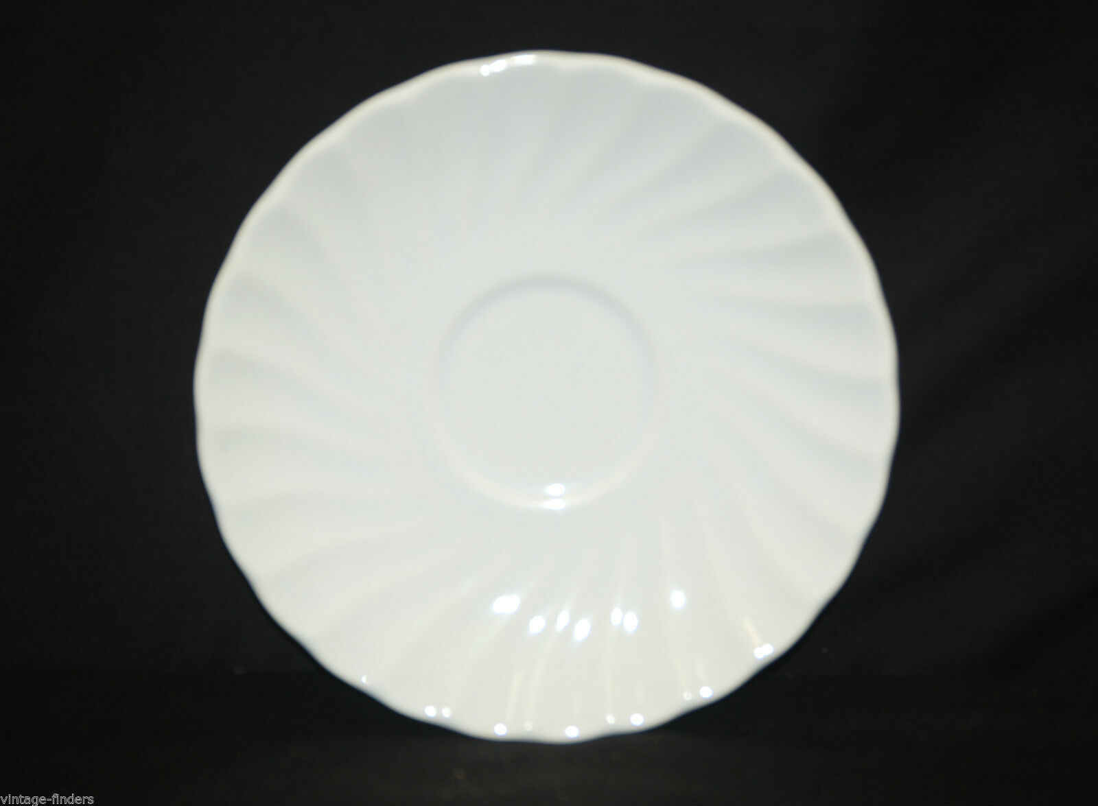 "Primary image for Old Vintage Sheffield Bone White 6-1/8"" Saucer Earthenware All Ivory ~ USA"