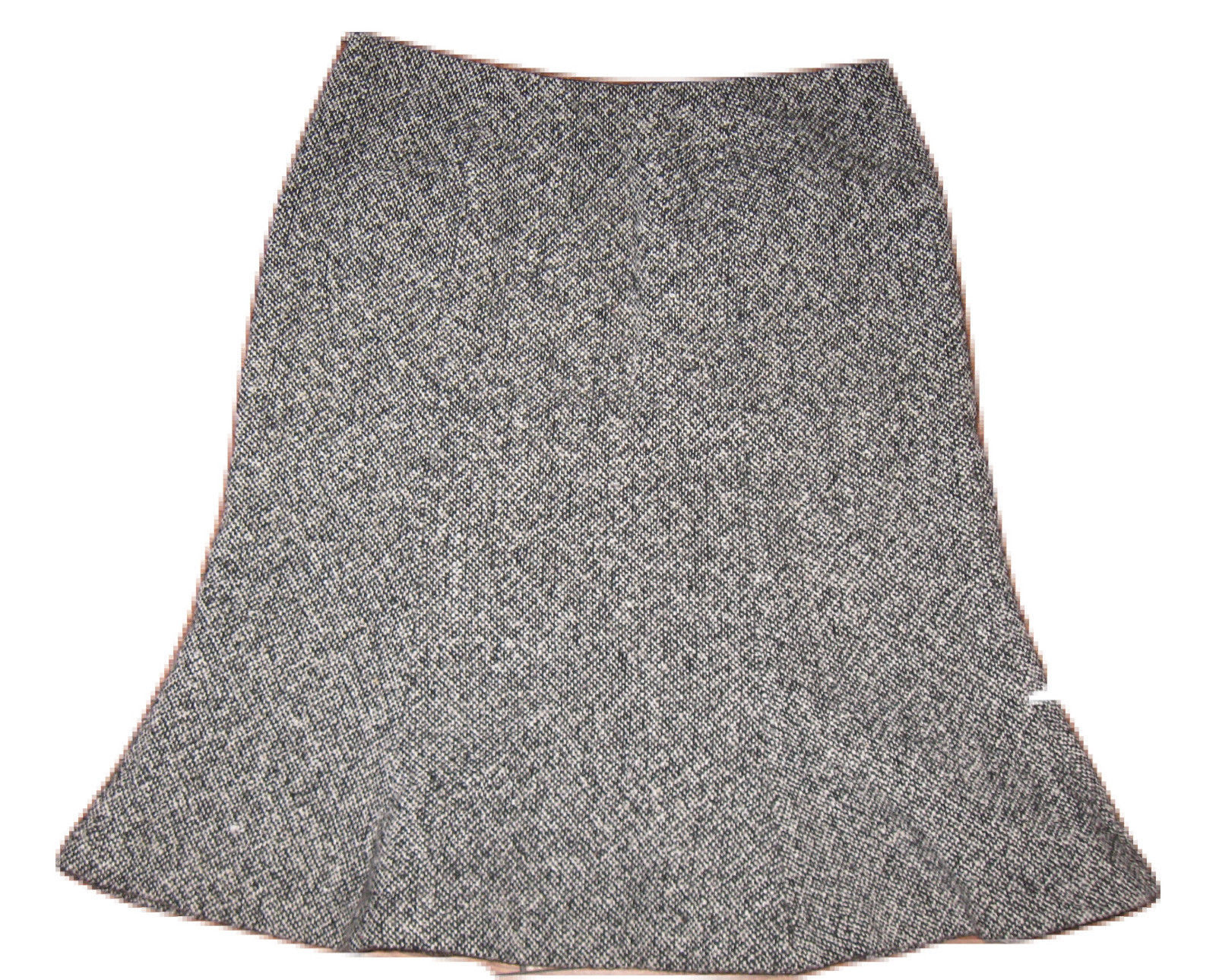cb7e4e0d5 GAP Sz 1 Skirt Black White TWEED A-Line Flare WOOL Blend Career Work Lined  - $17.99
