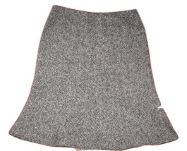 GAP Sz 1 Skirt Black White TWEED A-Line Flare WOOL Blend Career Work Lined - $17.99
