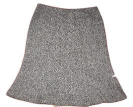 GAP Sz 1 Skirt Black White TWEED A-Line Flare WOOL Blend Career Work Lined - $24.20 CAD