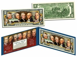 USA $2 Dollar Bill THE FOUNDING FATHERS of the US Colorized Obverse Lega... - $18.50