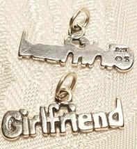 GIRLFRIEND WORD STERLING SILVER CHARM 925 PENDANT
