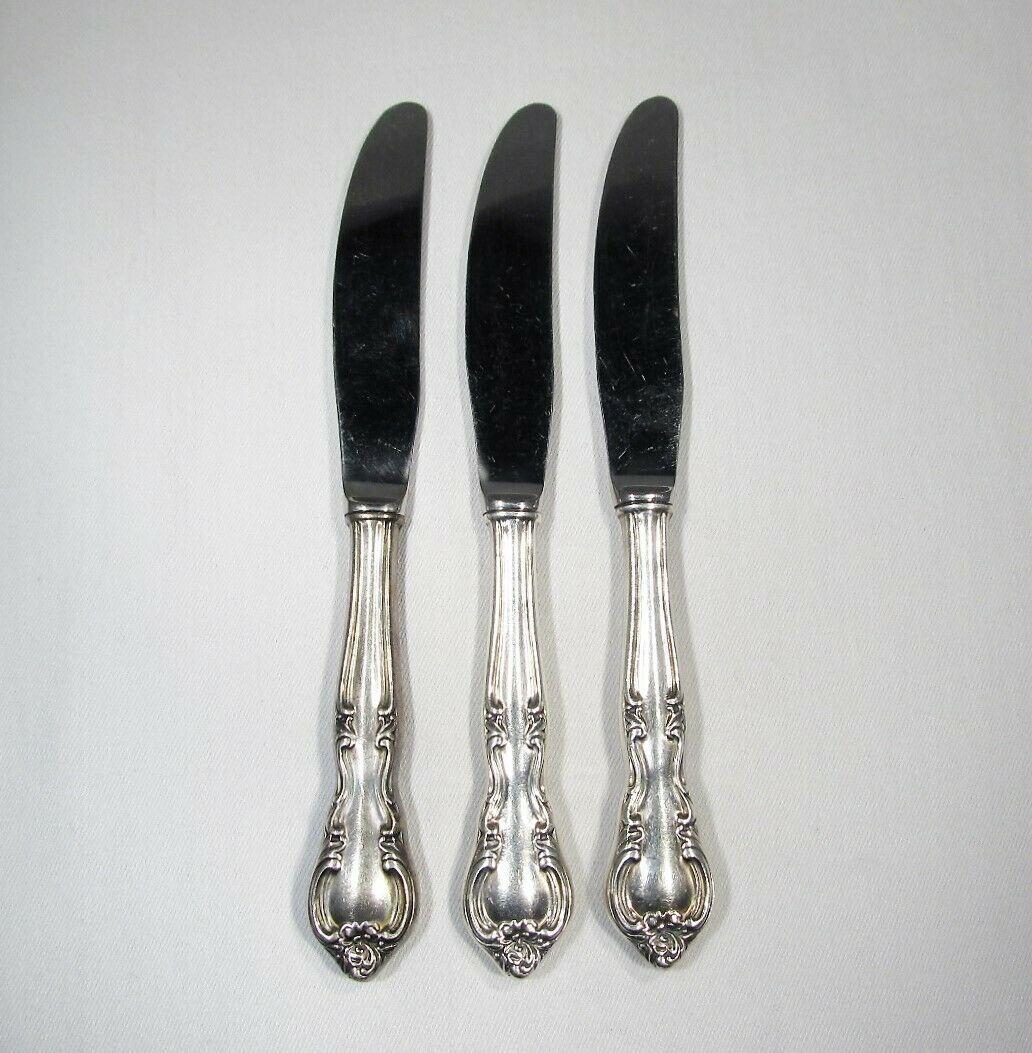 Vintage Sterling Silver Handled Knives Set of 3 C2453 - $62.74