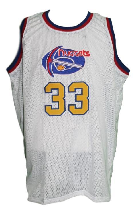 low priced cba2b 92f5f David Thompson #33 Denver Aba Retro Basketball Jersey New Sewn White Any  Size