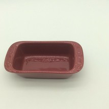 LONGABERGER Woven Traditions Paprika Red Small Loaf Baking Dish New  - $24.99