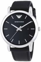 Emporio Armani Men's AR1692 Classic Black Leather Watch - $89.01