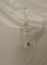Royal Crystal Rock Lead Crystal Bell 5 1/2 Inches Made in Italy 24 perce... - $14.85