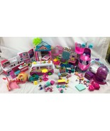 Lot Shopkins Figures Accessories Shoppies Doll 9 Playsets Kitchen Ice Cr... - $124.99