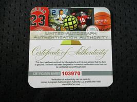 MICAHEL JORDAN / NBA HALL OF FAME / AUTOGRAPHED CHICAGO BULLS PRO STYLE JERSEY image 9