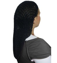 Navy Extra Long Hair Net Snood - Large Crochet Hair Net Snood In Navy - $15.38