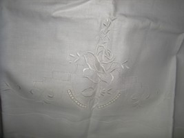 Vtg Unused Pair White Lace Cutwork & Embroidere... - $34.97