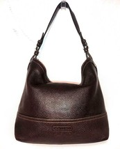 Coach #5715 Brown Expresso Pebble Leather Handbag Shopper Hobo Shoulder Bag - $79.98