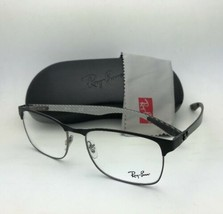 Nuevo Ray-ban Gafas Tech RB 8416 2916 55-17 Negro & Gunmetal con / Carbono Fibra