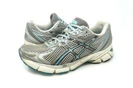 Asics Gel 1150 Womens Size 6.5 Silver Blue Black Running Athletic Shoes ... - $23.99
