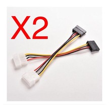 2pcs 4-Pin IDE Molex to 15-Pin Serial ATA SATA Cable Adapter.                A24