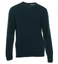 Alfani Men's Blue Navy V-Neck Solid Knit Pullover Sweater - $24.99