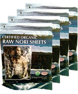 Raw Organic Nori 200 qty Sheets Pack Vegan Certified Kosher Sushi Wrap P... - $82.12