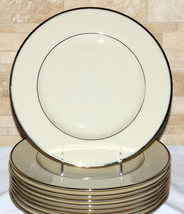 Lenox Montclair * 9 DINNER PLATES * Platinum, Mint Condition - $108.89