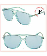 GUCCI SENSUAL ROMANTIC 0262 Azure Blue Unisex Square Sunglasses GG0262S ... - $257.40