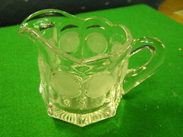 Beautiful FOSTORIA Coin Clear Glass CREAMER - $14.44