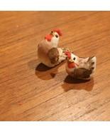 VINTAGE Mushroom Craft ROOSTER HEN SET BIRD CHICKENS FREE SHIPPING - $7.87