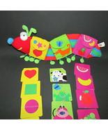 manhattan Baby toy company plush caterpillar w/ pockets cards fruit shap... - $9.89