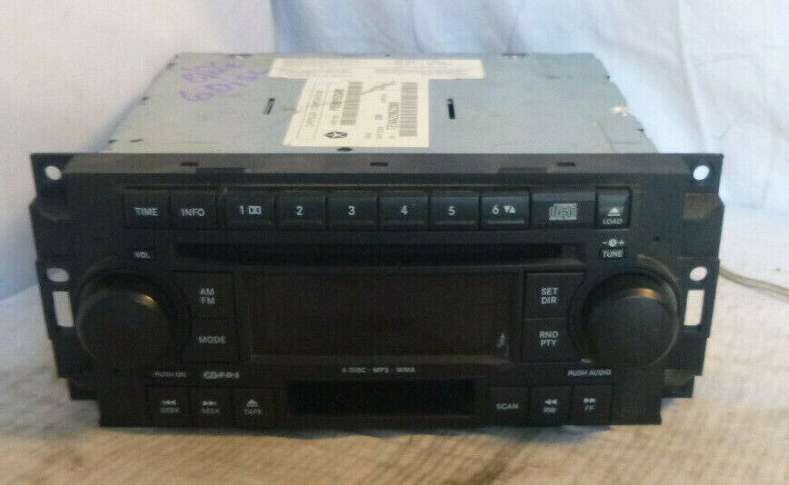 05-09 Chrysler Dodge RAK Radio 6 Disc Cd Mp3 Cassette Player P05091523AM CFL404 image 2