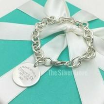 "Medium 7.5"" Please Return to Tiffany & Co Round Circle Tag Charm Bracelet - $225.00"