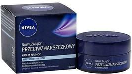 NIVEA Night Anti-wrinkle Face Cream: All Skin types -50ml-FREE SHIPPING - $25.35 CAD
