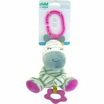 "Carters Pink Zebra 5"" Plush Stuffed Animal Stroller Rattle Crinkle Toy B... - $15.27"