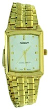New Old Style ORIENT Quartz S Steel Gold Tone Band, Case White Dial Watc... - $56.09