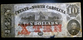 1863 $10 STATE OF NORTH CAROLINA ( catalogue #NCCR 122) - $186.12