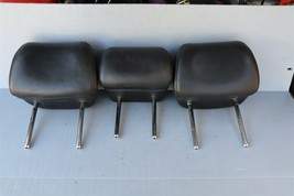 09-14 Nissan Murano Rear Back Black Leather Headrests Headrest Set of 3 image 1