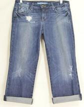 Joe's Jeans 29 Honey Kicker Klum wash roll ups cropped destroyed distressed - $17.81