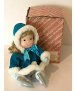 San Francisco Music Box Co Porcelain Doll Ice Skater 1989 Skaters Waltz ... - $29.99