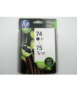 Genuine HP 74 BLACK 75 TRI-COLOR Ink cartridge CC659FN SEALED - EXP Nov 2018 - $13.99