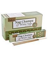 Tulasi Nag Champa & White Sage Natural Incense - 15 Sticks Pack - Set of... - $11.95