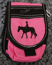 Abetta Nylon Cell Phone Carrier Pink Pleasure Horse Clip or Belt Use image 1