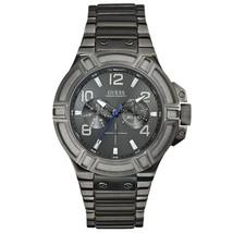 Brand New Guess U0218G1 Rigor Gunmetal Gray Multifunction Ion Plated Men's Watch - £83.60 GBP