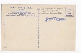 Vintage Postcard Waynesboro VA Virginia Deluxe Motor Court Linen - $5.95