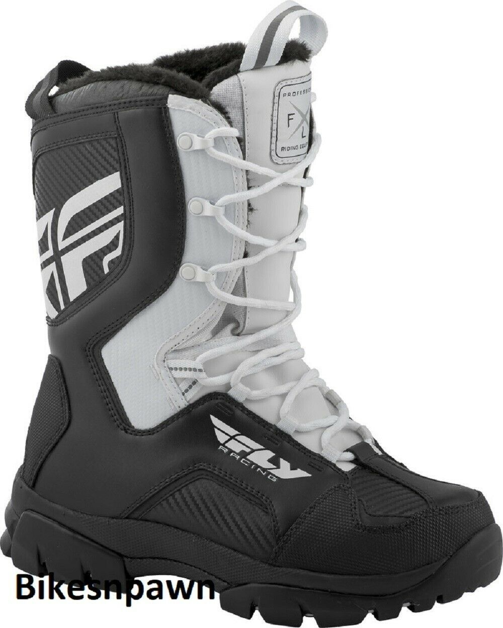New Mens FLY Racing Marker Black/White Size 8 Snowmobile Winter Snow Boots -40 F