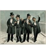 Decor Poster.Interior home.Room art design.Victorian men party.Mancave.1... - $9.90+