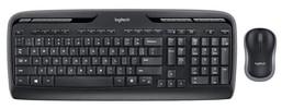 Black Logitech Wireless Desktop Keyboard & Mouse, PC / Computer Mouse & ... - $36.98