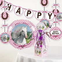 Creative Converting Heart My Horse Birthday Party Decorations Kit - $17.28