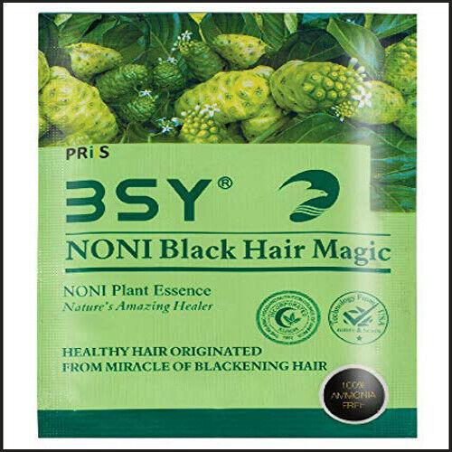 BSY Noni Black Hair Magic (20 ml X 10 Sachet) Hair Dye, Hair Color, Hair Shampoo - $54.99