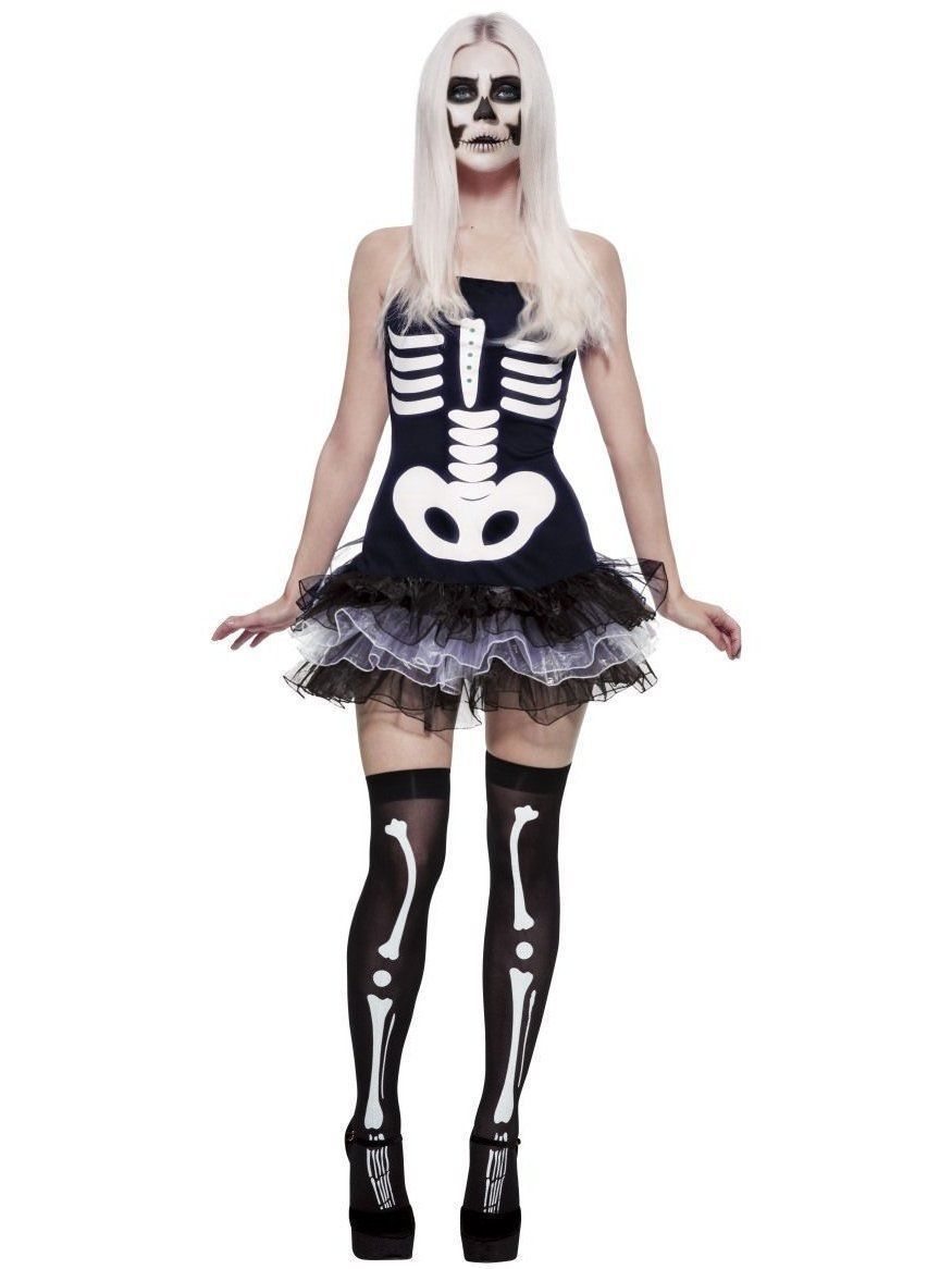 Primary image for Smiffys Fever Skeleton Skull Tutu Punk Adult Womens Halloween Costume 31969