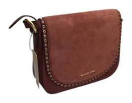 Michael Kors Brooklyn Suede & Leather Medium Saddle / Crossbody Bag NWT - $229.00